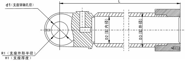 ※可根据用户提供的图纸、实物或技术参数设计制造。  BX01系列动臂液压缸规格尺寸