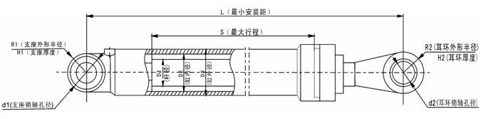 bx-wa600系列装载机液压缸