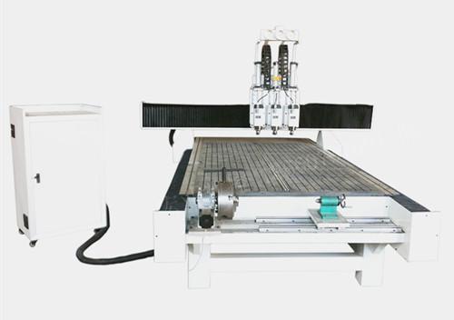 ql-1325木工雕刻机三工序气动换刀加旋转轴多功能
