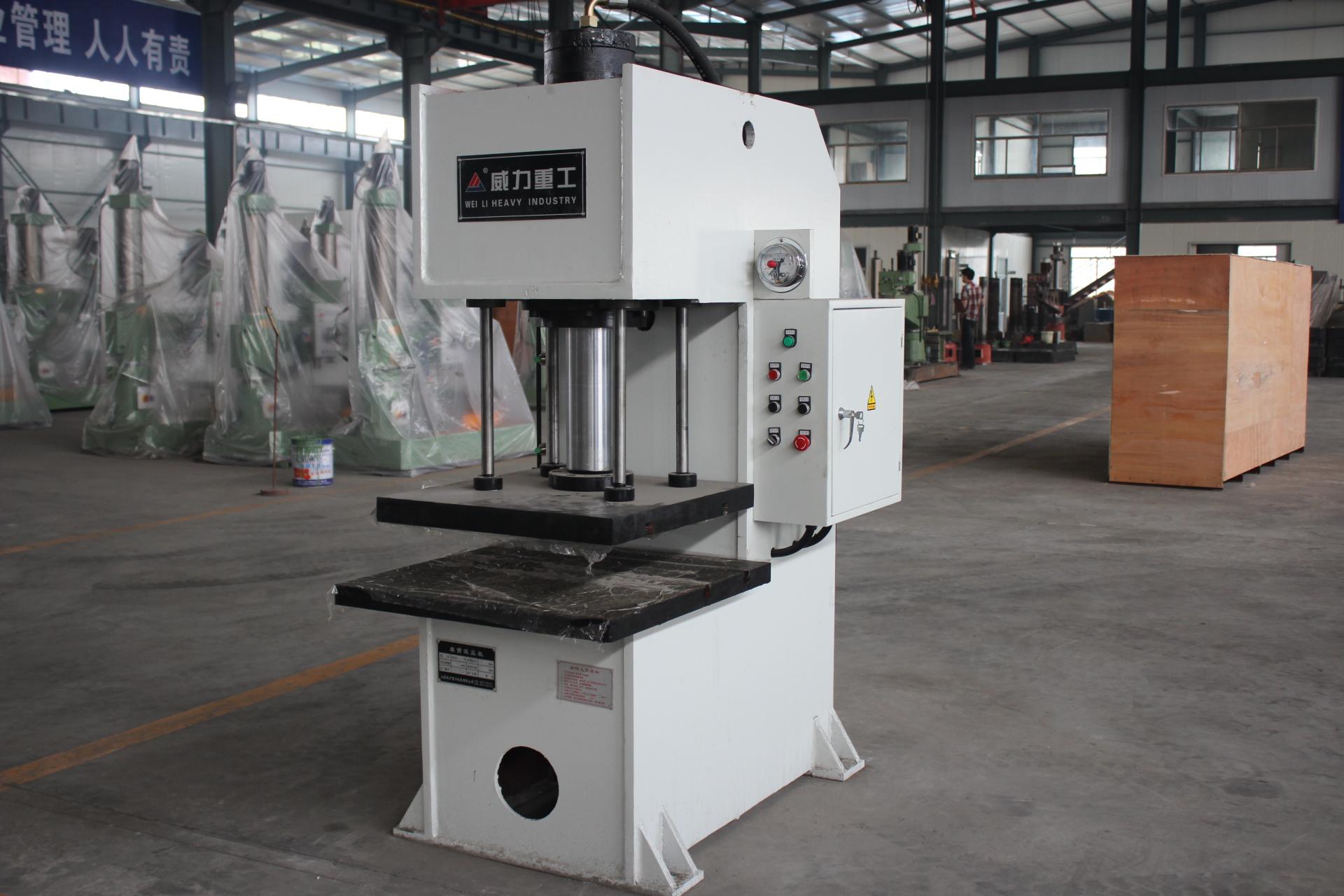 枣庄供应单柱液压机100吨单臂液压机63吨油压机压力图片