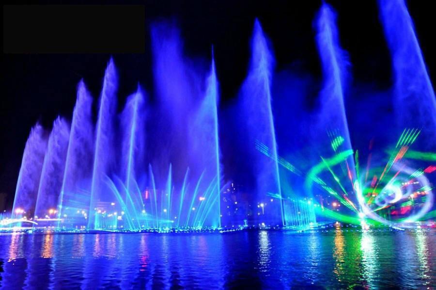 水景音乐喷泉图片