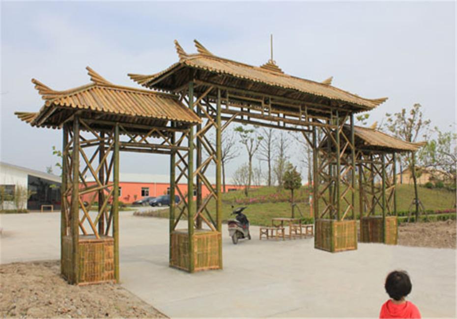 竹门楼既可用于园区或庭院的大门