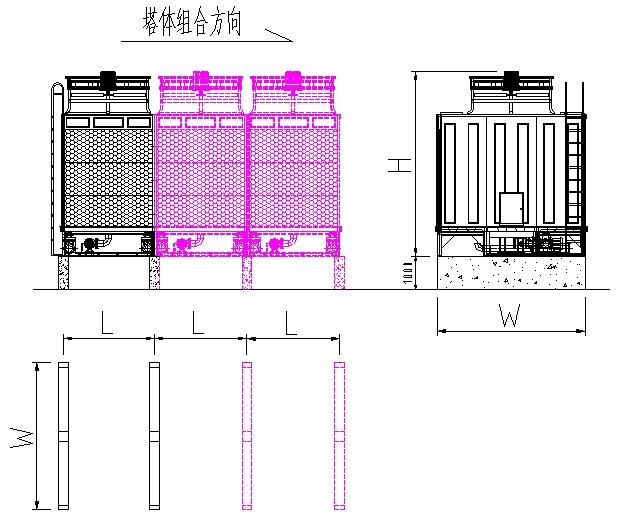 型蒸发式空冷器--闭式空冷器  产品说明: 1,采用横流形式,结构设计