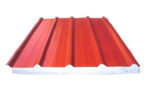 红色彩钢瓦贴图素材