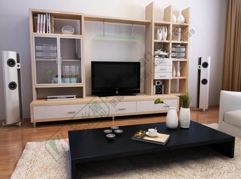 地柜等家居柜子组合在一起形成独具匠心的电视柜