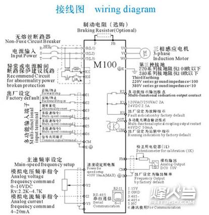 空间矢量型变频器接线图