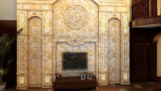 电视墙即背景墙,是一种装饰于家庭客厅电视、沙发、玄关、卧室墙等的家庭装修艺术,以其新颖的构思、先进的工艺,不但满足了消费者装饰装修的需要,更体现了艺 术的气质,使之成为商业与艺术的完美结合。 艺术瓷砖就是运用当代最新的印刷技术,加上特殊的制作工艺,可以把任意所喜爱的艺术品印制到我们日常所见的不同材质的普普通通瓷砖上,让每一片常规的瓷砖成为一件件艺术品。
