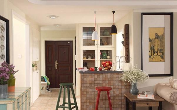 产品 吧台设计    吧台设计:    家里较宽的过道,采光好的落地窗或