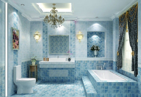 卫浴手绘线条图