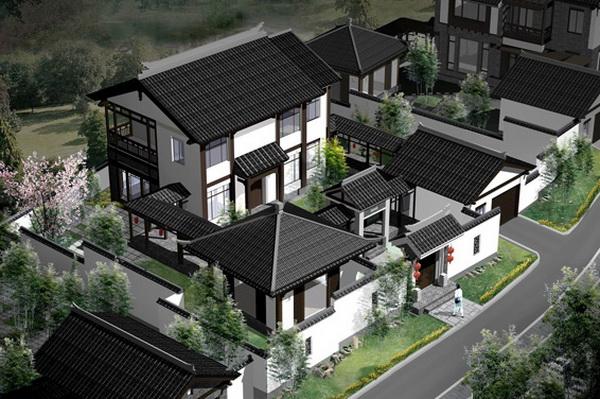 常州中式别墅木结构房屋