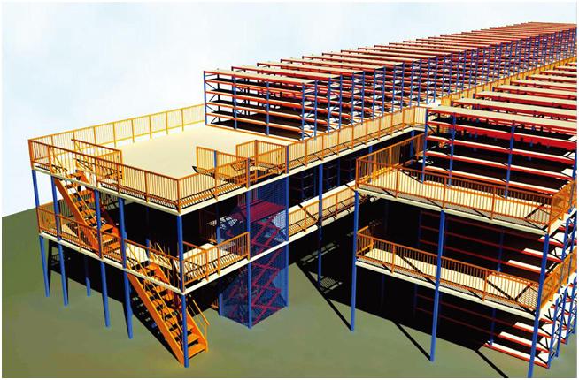 阁楼货架系统,通常利用中型搁板式货架或重型搁板式货架作为主体支撑加上楼面板(根据货架单元的总负载重量来决定选用何种货架),楼面板通常选用冷轧型钢楼板、花纹钢楼板或钢格栅楼板。近几年多使用冷轧型钢楼板,它具有承载能力强、整体性好、承载均匀性好、精度高、表面平整、易锁定等优势.
