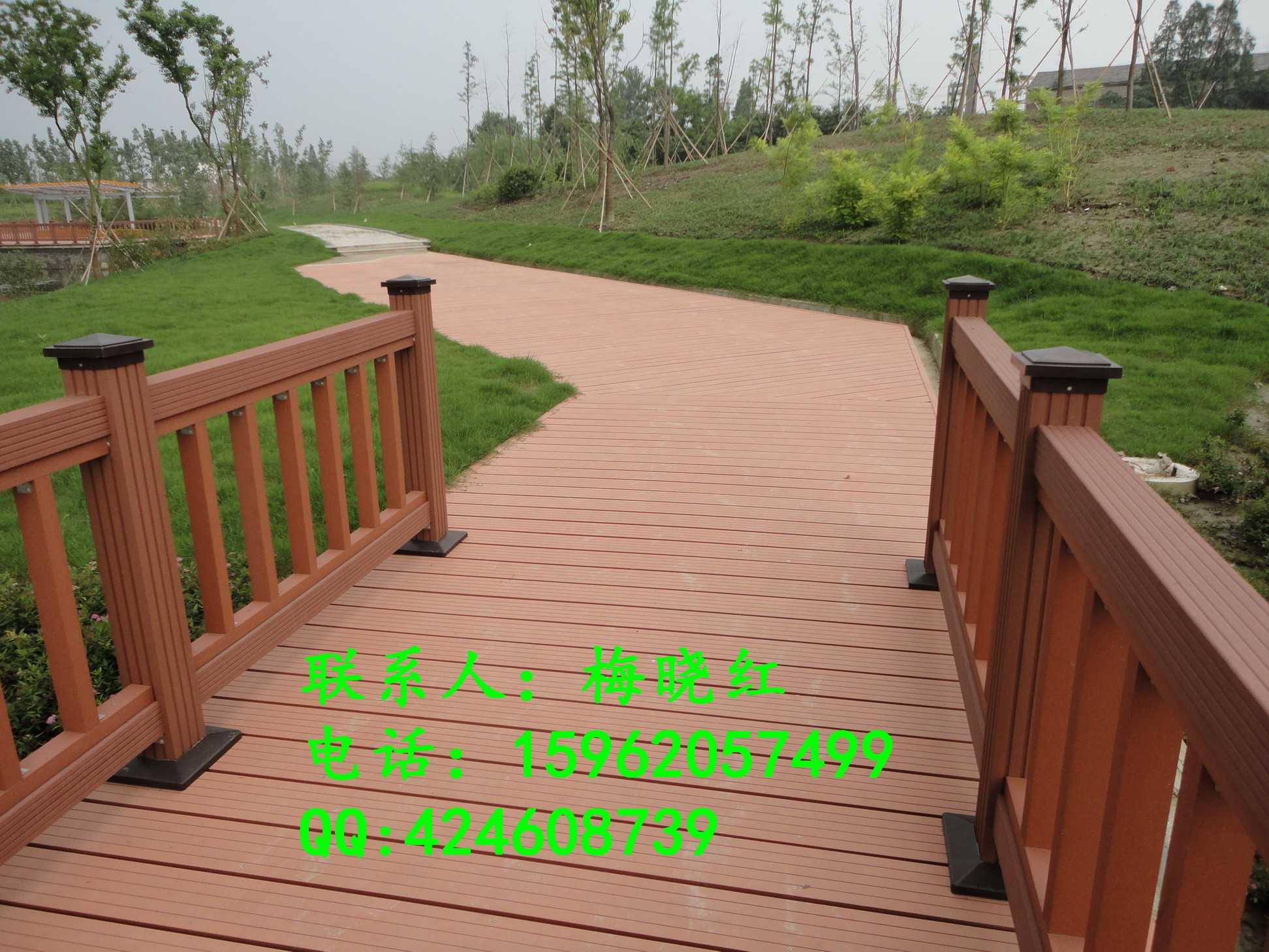 绿华塑木栏杆颜色主要是红木