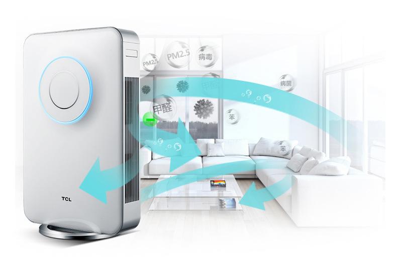 空气净化器原理  空气净化器通常由高压电路