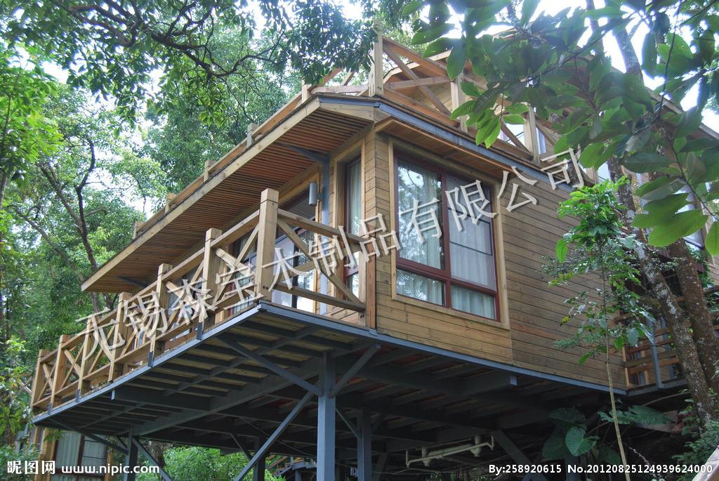 防腐木木屋搭建