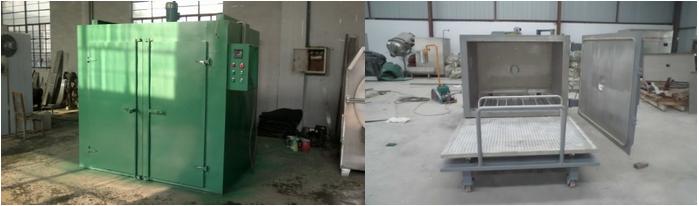 一、台车烘箱概述   属于工业规模化生产用途节能型烘箱,主要用于变压器铁芯、线圈烘干,喷漆电柜和零件烘干,稀土烘干, 铸造砂型烘干,电机烘干等多种用途。采用台车式进出料方式,适合于大批量工件自动进出。   采用智能程序温控仪控温,PID参数自整定,固态继电器调功,无触点连续调节,自动完成烘干工艺全过程,能满足任何固化曲线的要求,操作简便,性能可靠;精选国内外电气控制元件,使固化炉的电控部分可靠性达到最优。   二、台车烘箱特点   在工艺温度范围内实现定时歇式性自动排气功能(根据用户要求选配)。