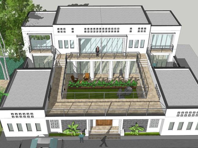 设计图分享 两层 四合院设计图 > 四合院别墅照壁设计图  四合院别墅