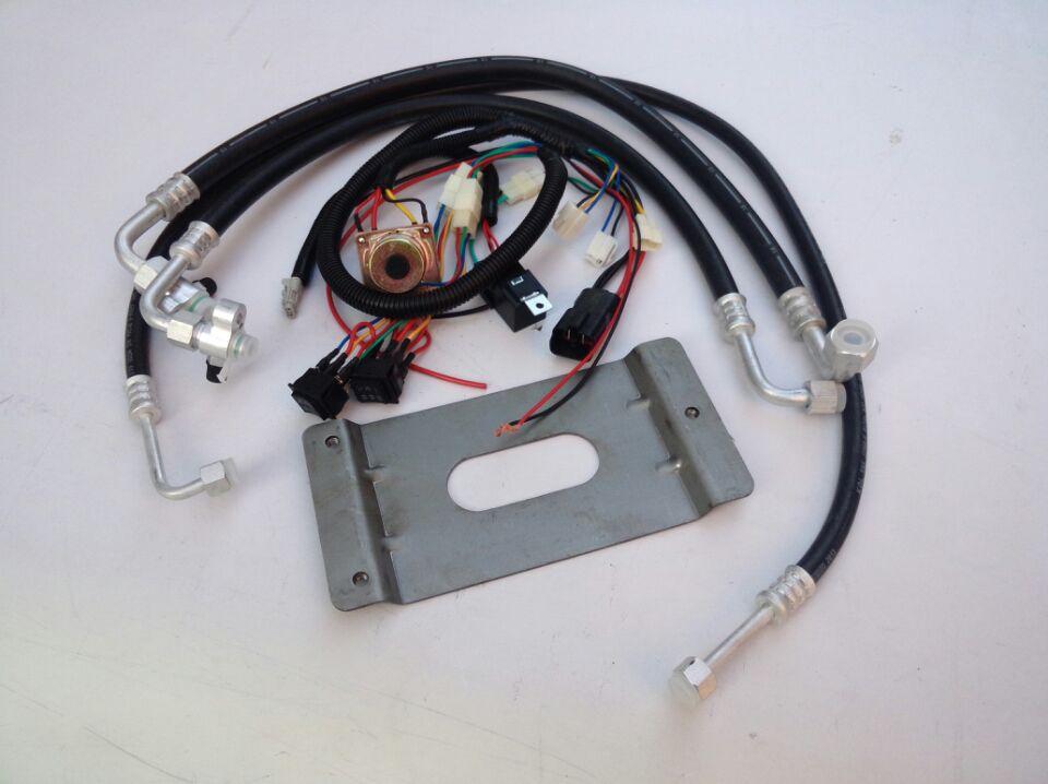 汽车空调器散热系统电路图