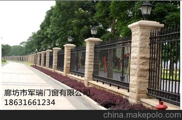 铁艺围墙01 - 廊坊市军瑞门窗有限公司