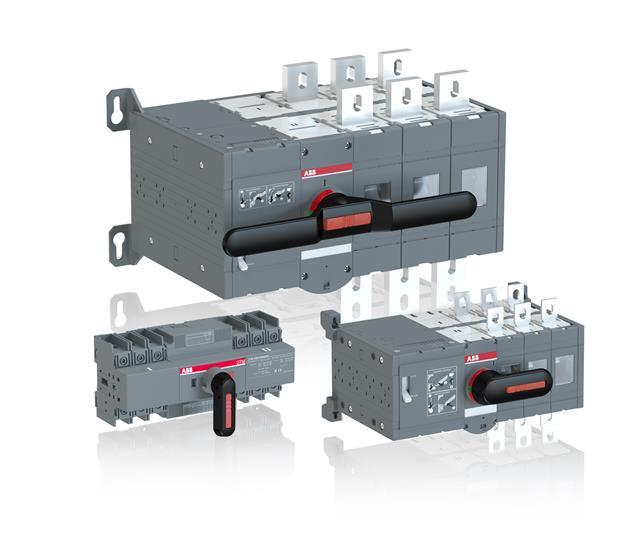出色性能   abb转换开关适用于重型应用.  电动转换开关