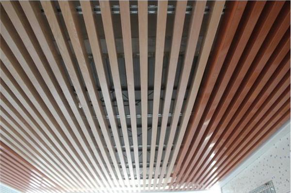 佛山市建威仿木纹铝方通吊顶u型挂条铝方槽