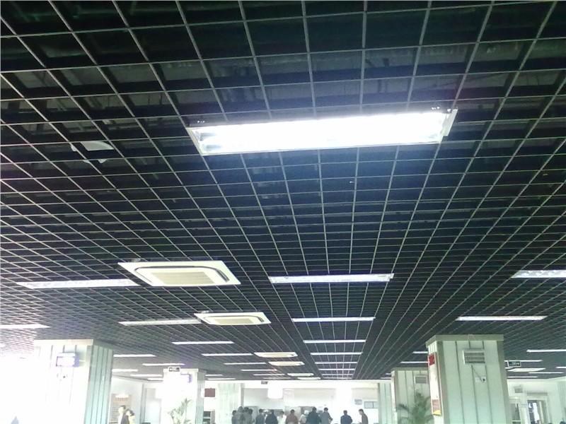 佛山建威铝格栅吊顶,铝格栅天花图片