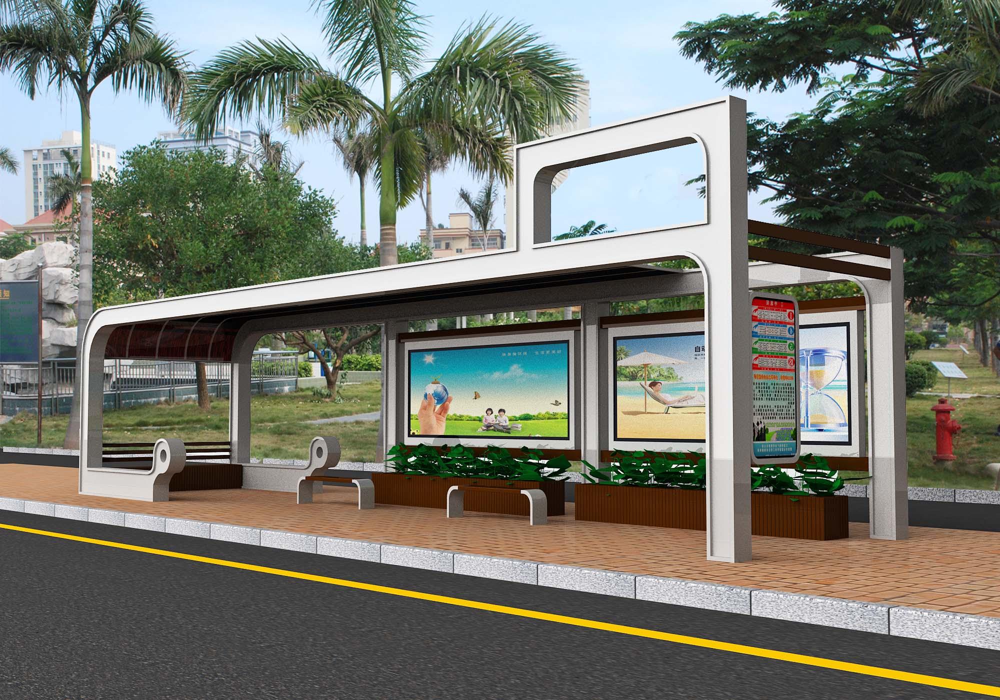 公交车站台供货商 公交站厅