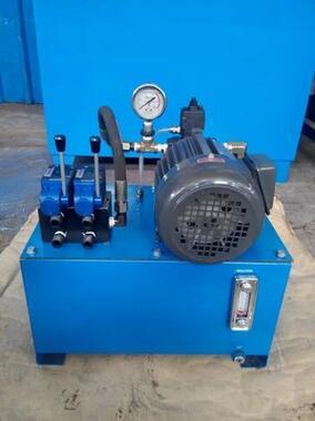 本液压站.电机1.5千瓦压力16兆帕.采用手动换向.操作简单.工作可靠.图片