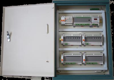 箱体内含空开,总线设备电源,设备导轨,走线槽等成套设备,含
