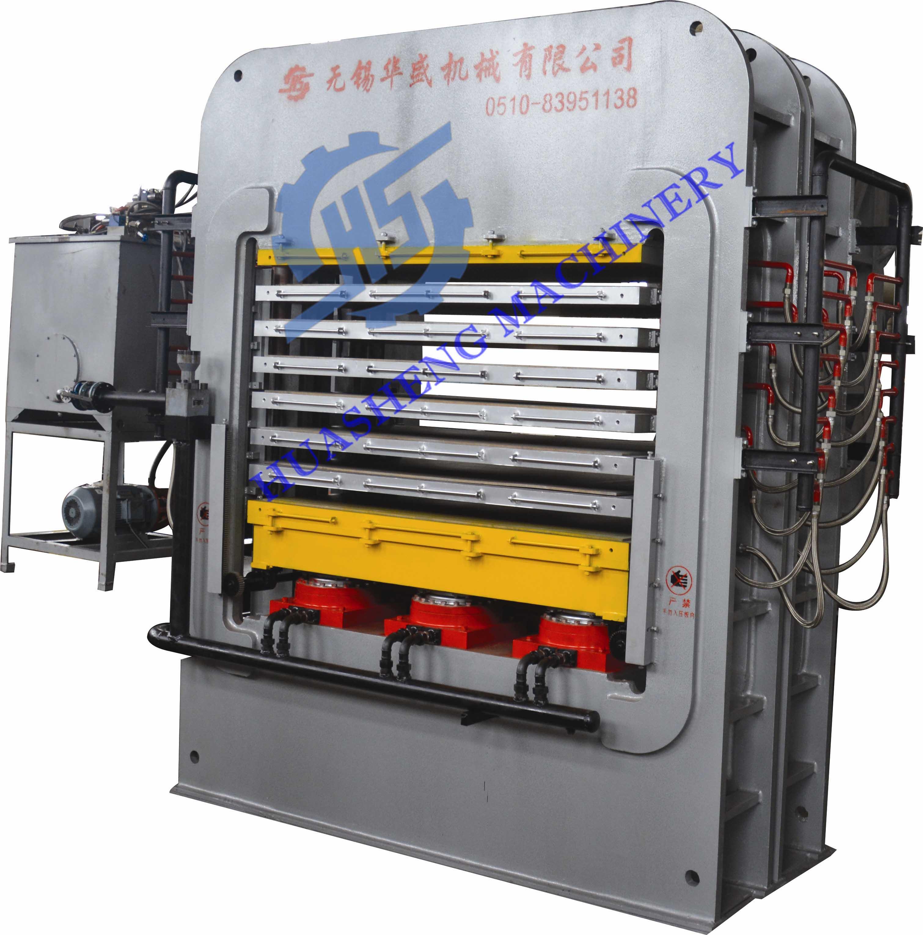 华盛热压机采用框架式结构