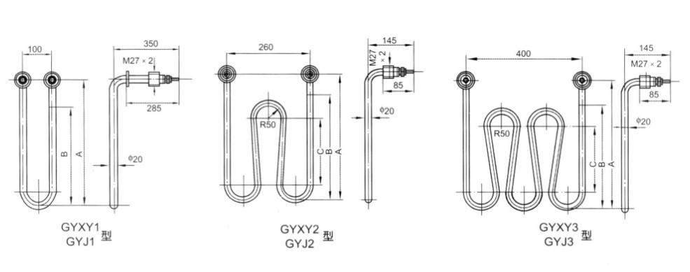 GYXY型硝盐溶液用管状电热元件