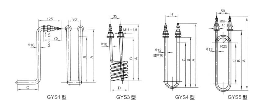 GYS型水用管状电热元件