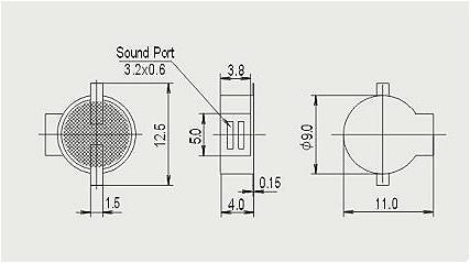 无源电磁式9040侧发声贴片蜂鸣器