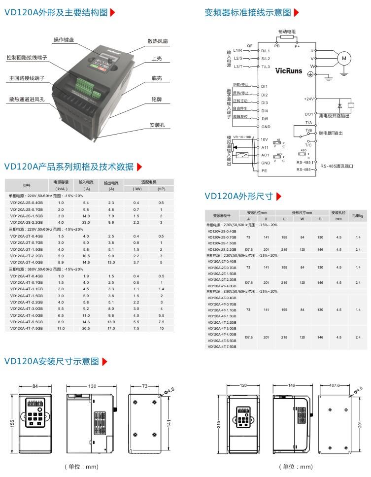 VD120A系列灵巧型变频器