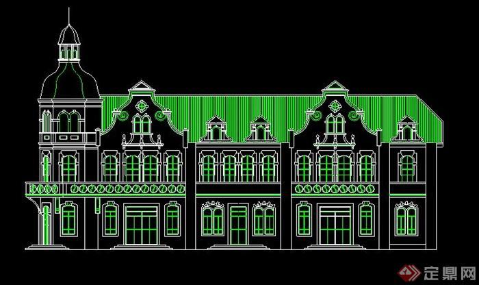 欧式风格建筑外观立面图