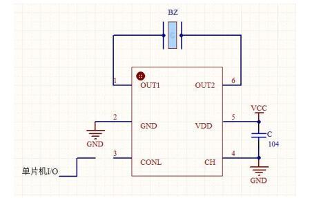 DC021带使能端的压电式蜂鸣器驱动电路