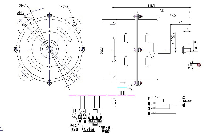 ydk分体空调室内机系列电机17