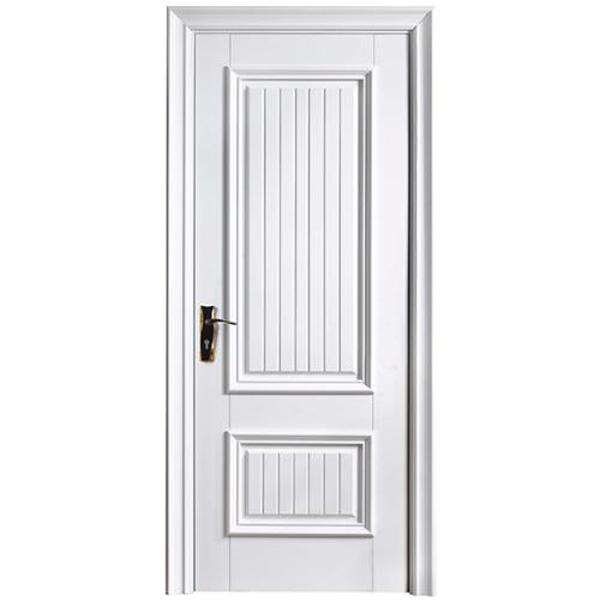 实木白漆门