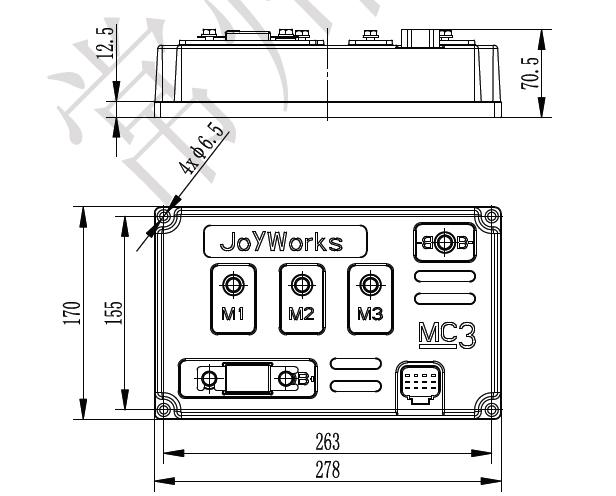 中功率型直流无刷电机电动平车用控制器厂家