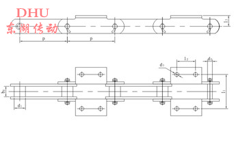 DS倾斜输送机链条