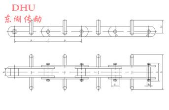 FU系列拉链机链条