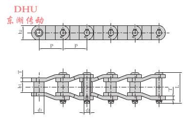 重载弯板传动链