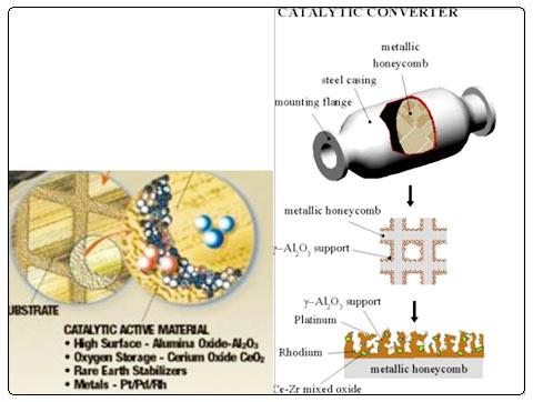 CDPF孔壁吸附剂催化剂分布图