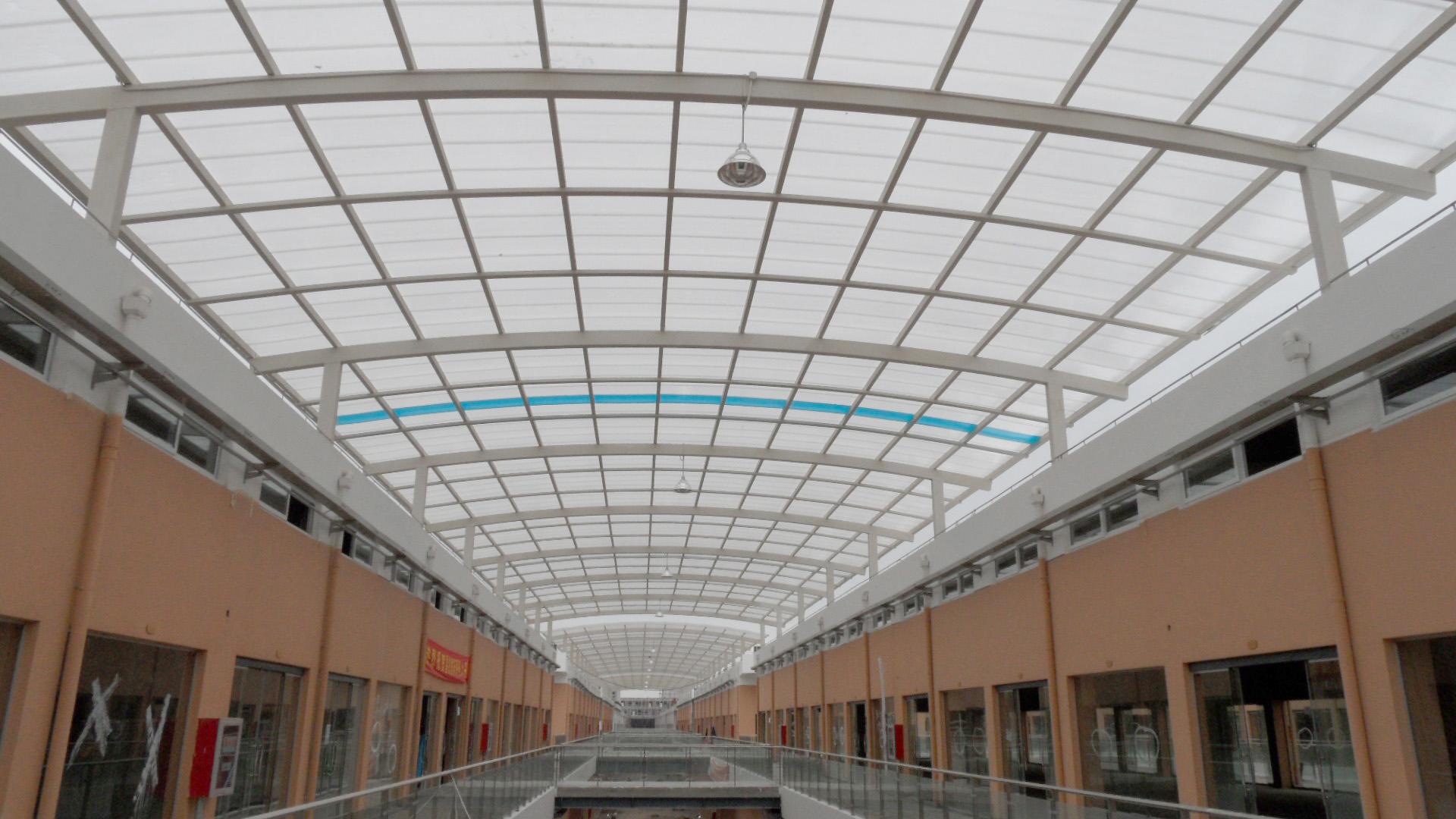 商城钢结构采光顶工程