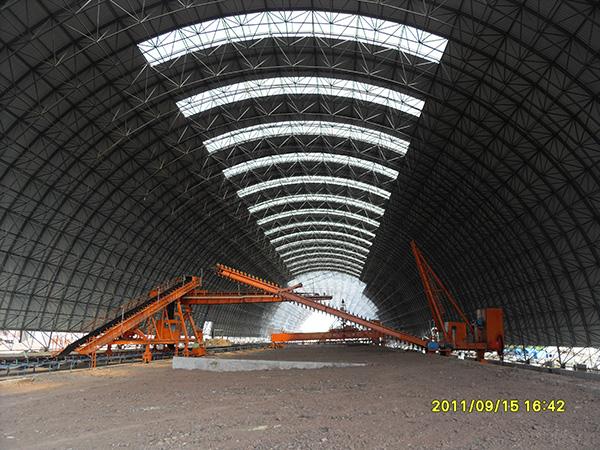 熟料新型干法水泥生产线钢网架制安工程