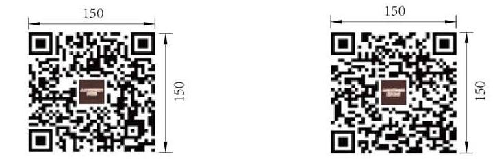 洗消间  三种通风方式二维码样式及尺寸样式