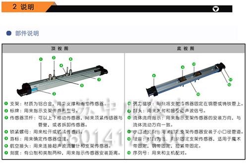 支架式超声波流量传感器