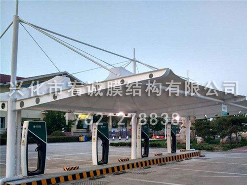 膜结构充电桩车棚价格