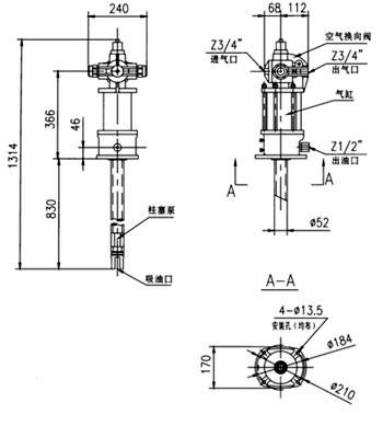 7786型气动润滑泵