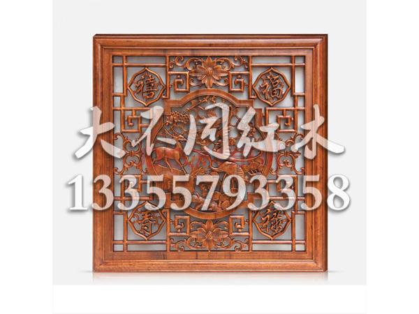 木雕方形挂件