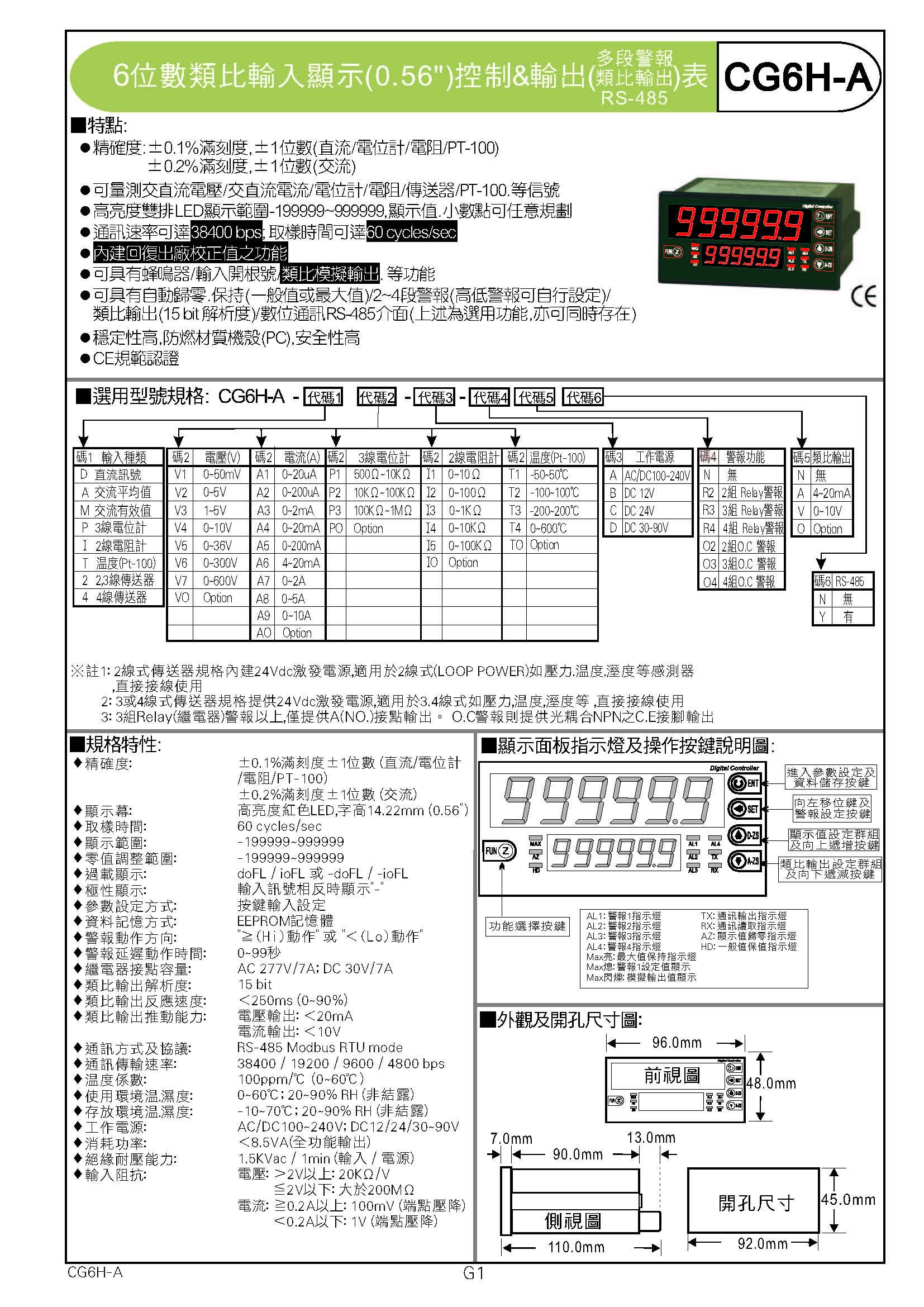 CHUNDE川得CG6H-A